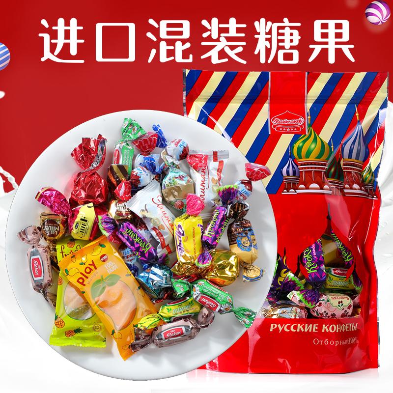 混糖混合装俄罗斯巧克力紫皮喜糖过年货零食超实惠进口糖果