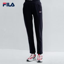 FILA Fila Official Women's Knitted Pants New Straight Cylinder Sports Pants for Summer 2019