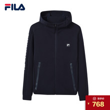 FILA Fila jacket male Huang Jingyu with the paragraph 2019 spring new casual sports hooded jacket workout clothes