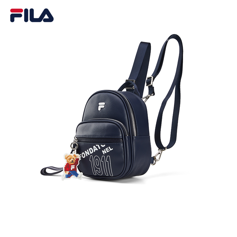 FILA Fiile official women's backpack 2021 spring new embroidery bear backpack handbag