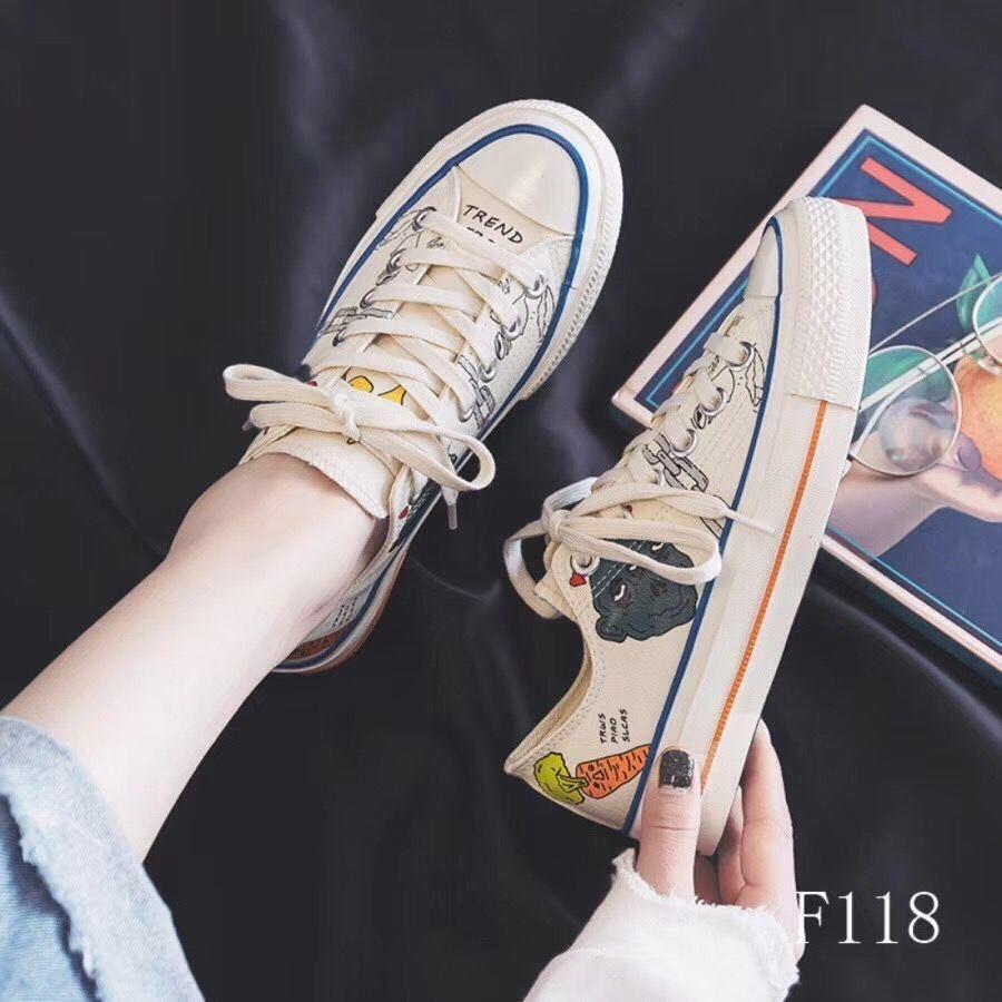 2020年新款帆布鞋ins街拍小白鞋网红板鞋学生百搭休闲鞋复古港味