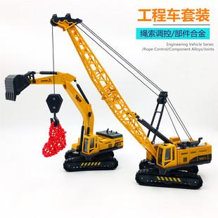 工程車玩具挖掘機吊車攪拌車卡車剷土車慣性回力滑行小車仿真模型