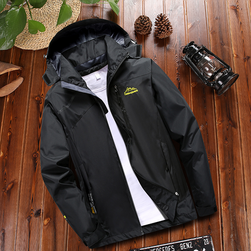 Mens new mid aged Plush outdoor sports windbreaker in autumn 2019 fathers windbreaker in spring and autumn winter