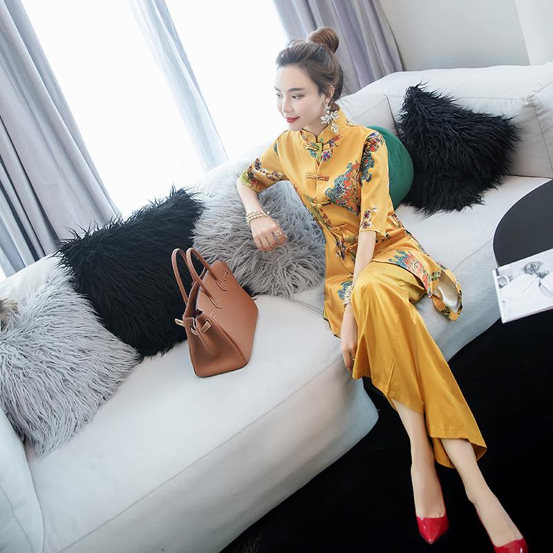 气质名媛中国风女2019新款夏装裤子限时2件3折