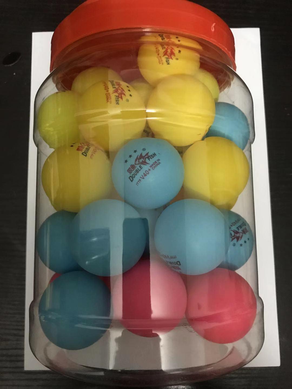 双鱼三星乒乓球 双鱼彩色乒乓球 彩色娱乐用球新材料V40+大球包邮