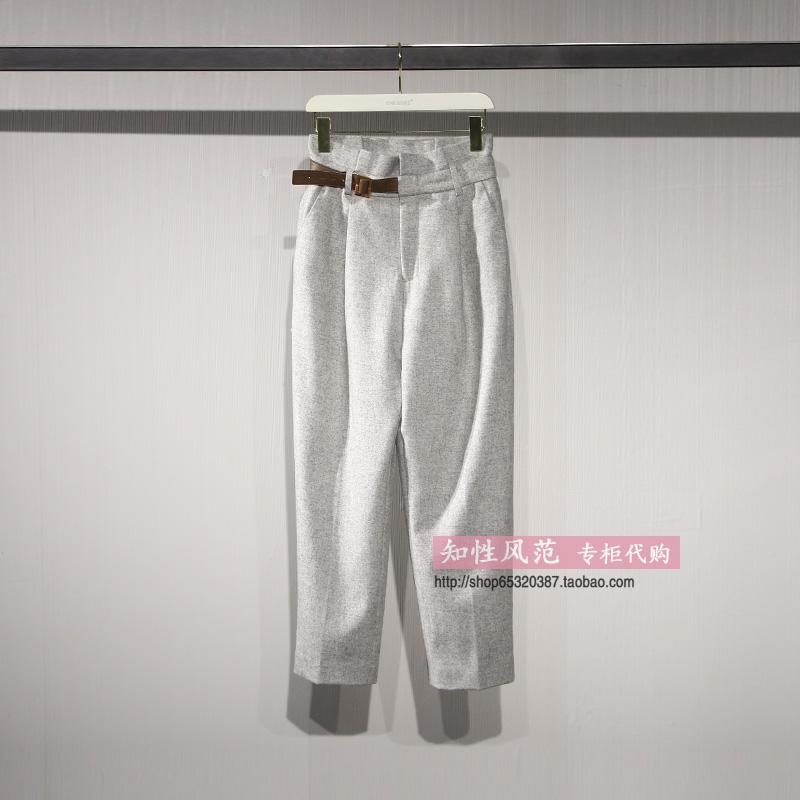 文墨ONEMORE2019冬新款专柜正品国内代购装饰袢长裤A1PA9410C44