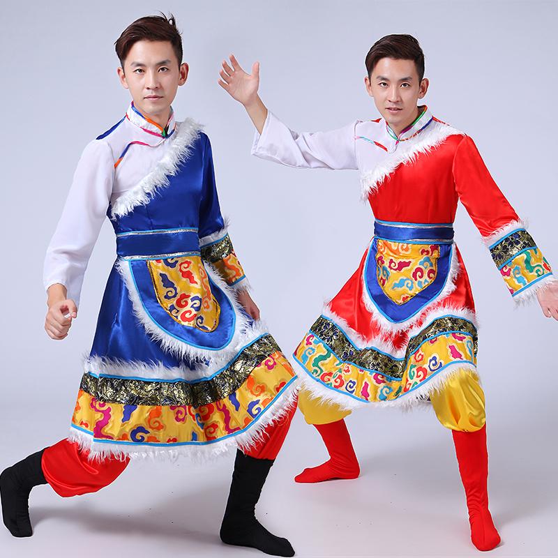 [西藏民族舞蹈表演服装少数民族藏族] мужской [藏族舞台演出服饰成人蒙古]