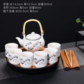 青花瓷茶壺茶杯家用 特價 整套陶瓷防燙雙層杯功夫茶具中式 茶具套裝