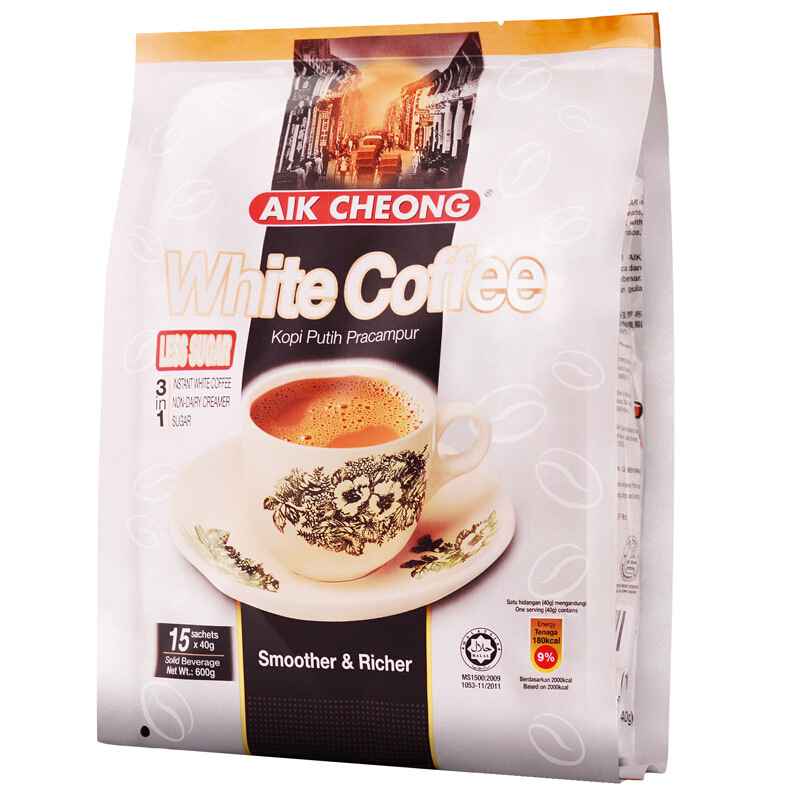 Malaysia imports instant white coffee Yichang old street three in one reduce sugar white coffee 600g / bag