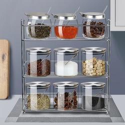 调料瓶套装调料盒置物架调味罐组合装调料架不锈钢调味瓶厨房用品