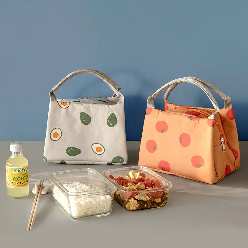 保温袋手提饭盒包饭盒袋加厚铝箔便携帆布学生带饭的保温包便当包11-04新券
