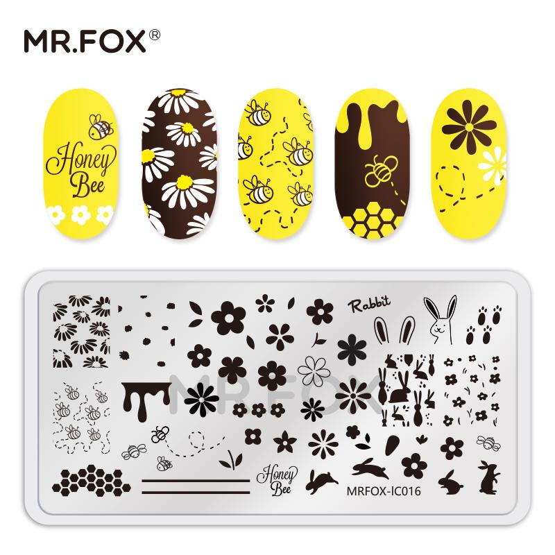 MrFox狐狸先生 指甲油胶转印工具章网红泫雅风牛油果美甲印花钢板