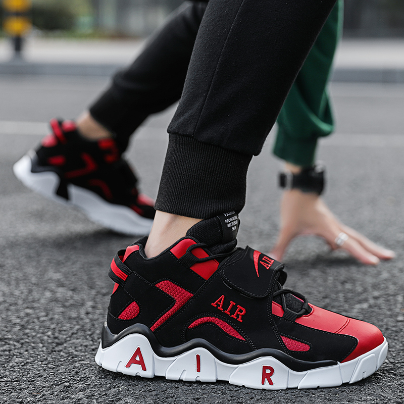 2021 autumn winter trend versatile new mens sports shoes breathable soft soled running casual shoes buckle warm high top shoes
