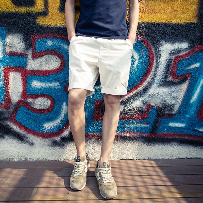 2018夏季林弯弯LES帅T男女纯色情侣五分裤韩版直筒沙滩休闲短裤潮