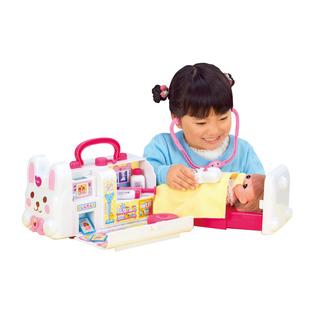 咪露小兔子救護車米露娃娃看病打針女孩家家醫生護士打針兒童玩具
