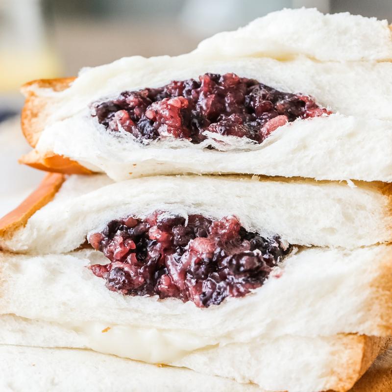 12-01新券10个包邮 紫米面包米多天宇黑米面包奶酪包早餐糕点沙拉夹心吐司