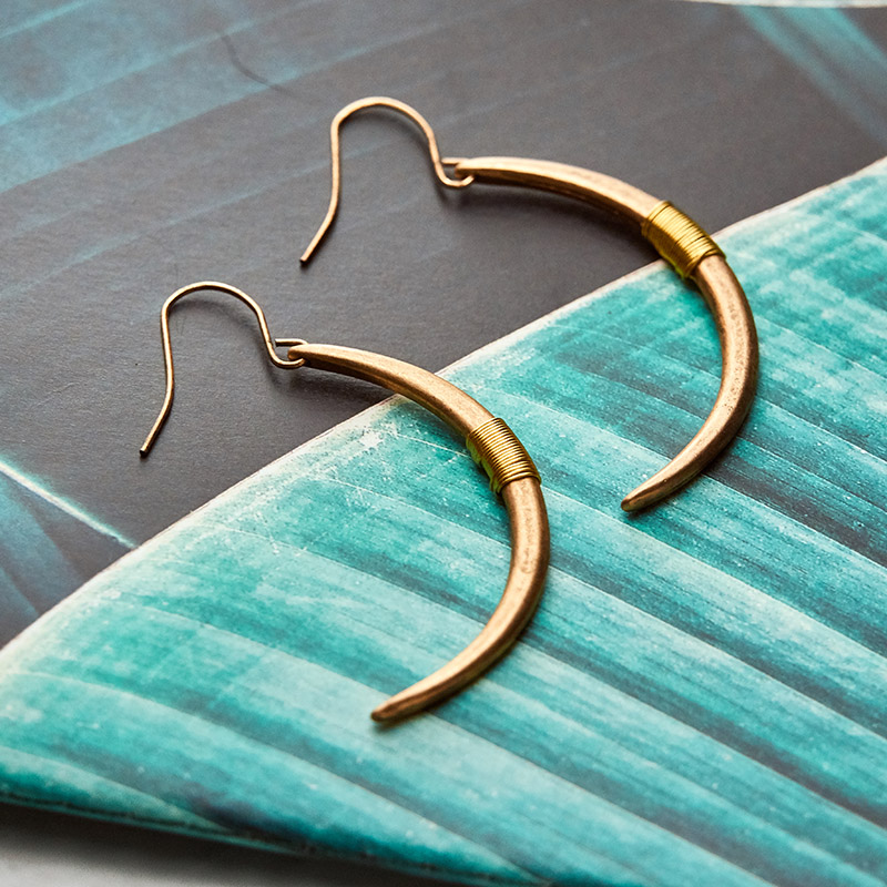 Way2ward garden | new moon | thin face earring temperament simple chic minimal temperament simple