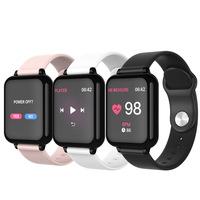 B57新款彩屏智能手环 心率血压血氧计步来电提醒蓝牙手表 东方红