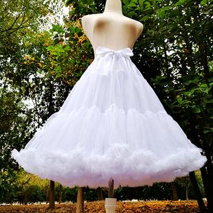 裙撑lolita洛丽塔日常棉花糖云朵无骨软纱暴力加长款蓬蓬裙衬撑