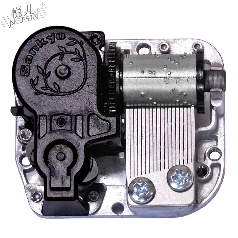 Sky City Music Box eight tone box movement 18 tone winding Yueer movement manual parts maintenance and replacement