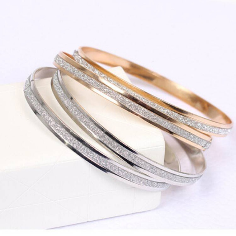 18k rose gold frosted fashion couple bracelet for men and women