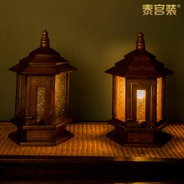 花园别墅户外庭院灯室外防水柱头灯高档木制端景台灯饰复古围墙灯