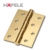 Haifule 4 inch hinge door hinge ordinary bearing muffler copper polished hinge wooden door flat open hinge 1 pieces