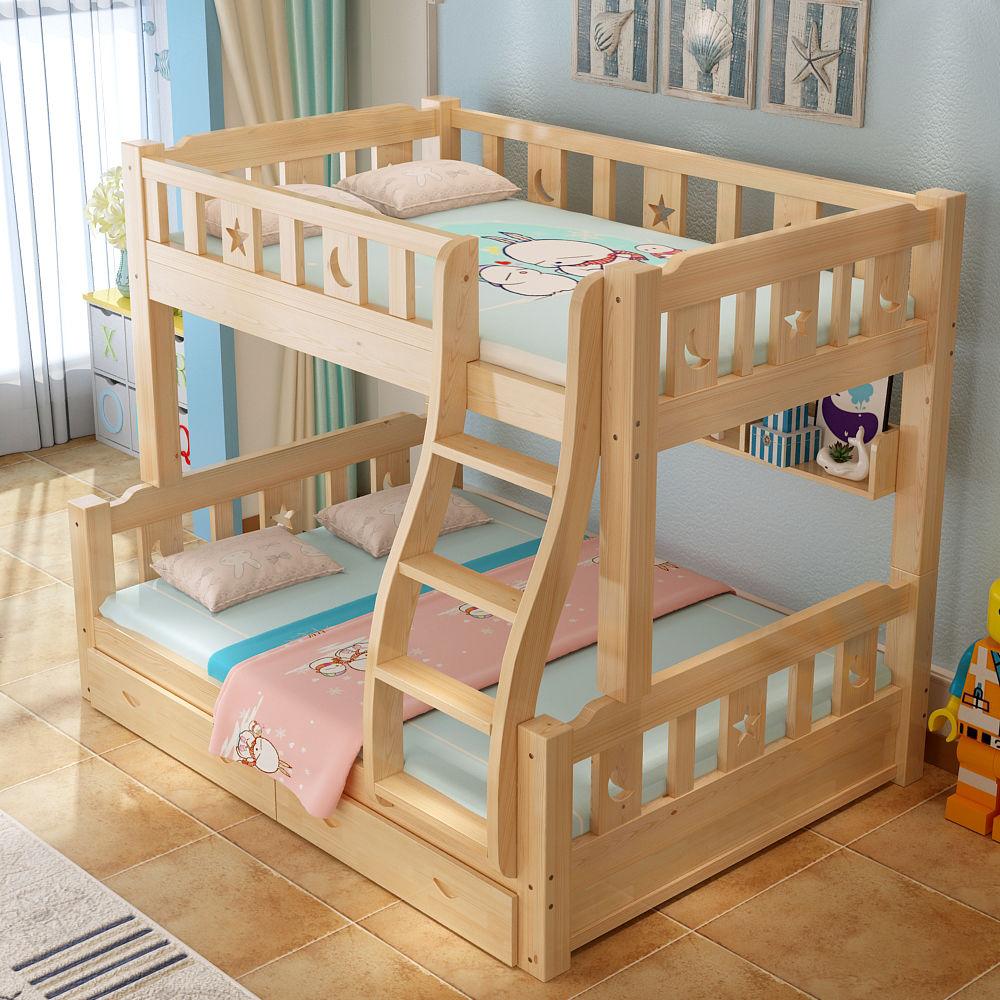 全实木床上下床成人高低床双人床双层床上下铺子母床儿童床多功能