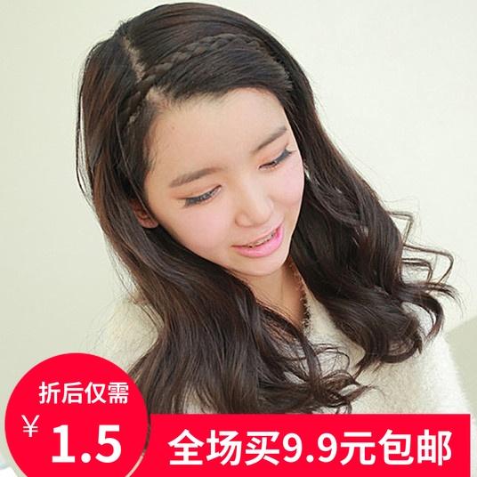0053 韩版饰品假发发箍发饰 带齿假发麻花发箍 压发 防滑头扣发卡