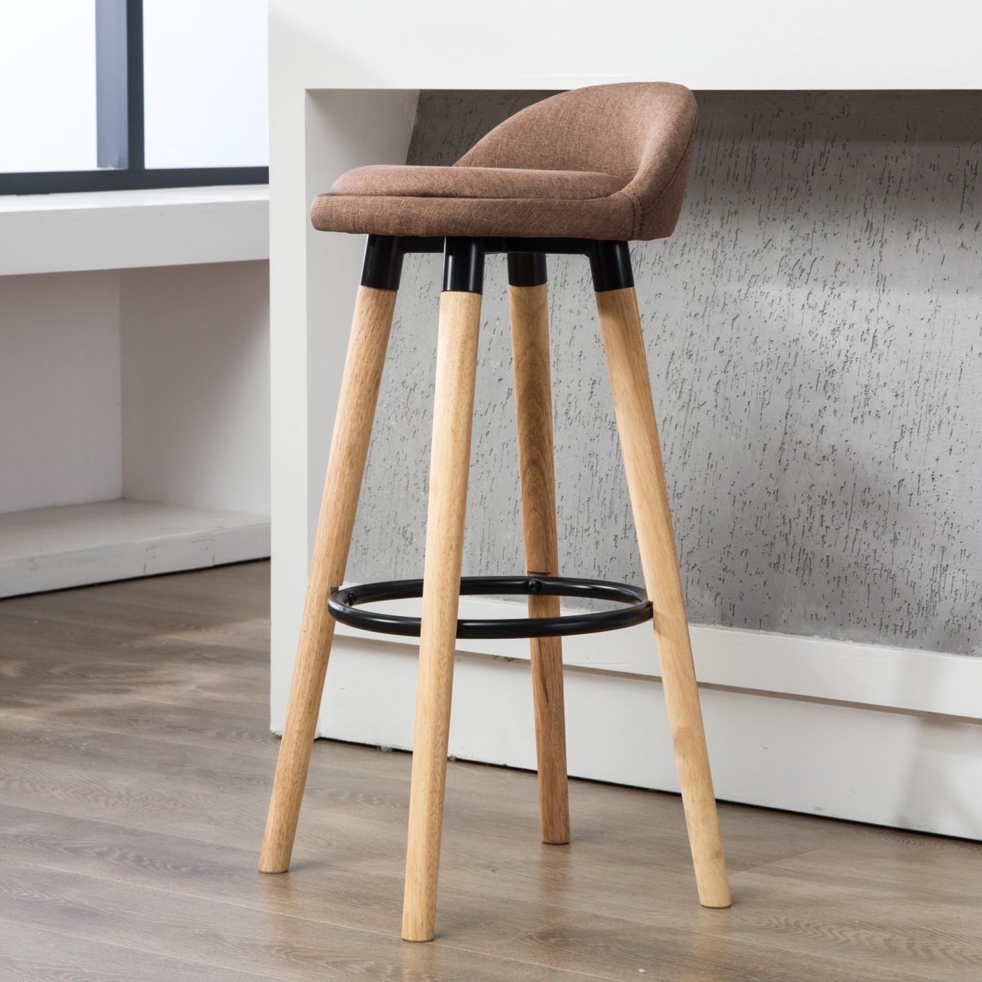 Дерево табурет мода творческий бар стул современный простой бар столы и стулья домой вращение ходули стул бар табуретка