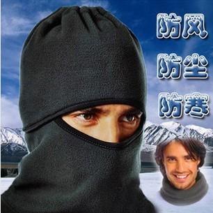 秋冬自行车护脸保暖TCM抓绒加厚cs面罩头套 摩托车骑行围脖飞虎帽