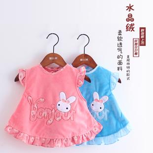 春秋季婴儿防水无袖罩衣宝宝纯棉男女孩口水巾儿童围兜围裙吃饭衣