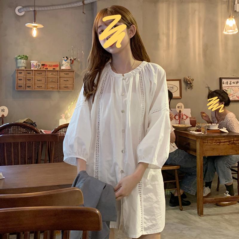 童年同款梗桔初恋女群裙夏夏衬衫裙12-09新券
