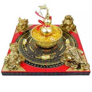 开光纯铜聚财阵摆件葫芦招财聚宝盆