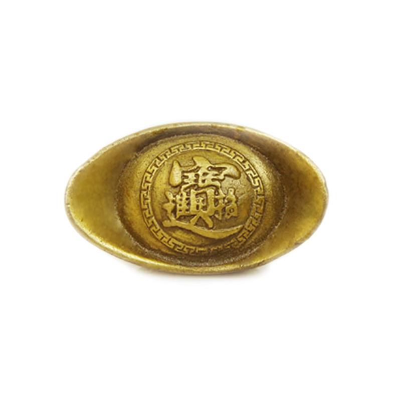开光纯铜元宝摆件 小号 黄金万两金元宝 招财进宝铜元宝招财旺财
