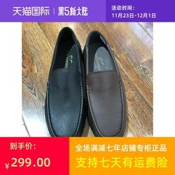 烟斗男鞋百年烟斗新款透气商务休闲皮鞋软皮鞋舒适皮鞋爸爸鞋
