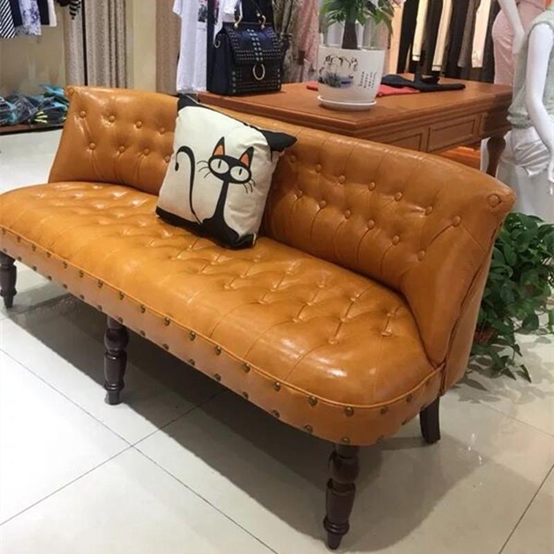 欧式现代轻奢小沙发网红款迷你双人三人小户型卧室服装店沙发椅子