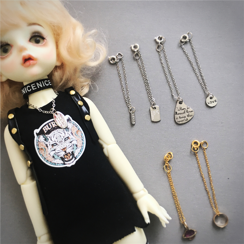 Special size customized small cloth bjd6:8 ob baby fashion brand Necklace Photo Props sweater chain