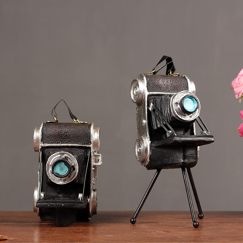 复古做旧做脏相机模型装饰摆件 创意照相机酒吧橱窗陈列软装饰品