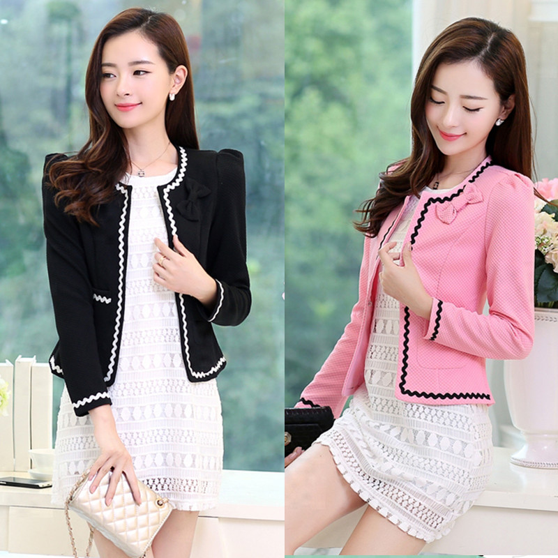 2020 autumn new fashion temperament large size versatile Korean slim suit womens coat womens short spring and Autumn