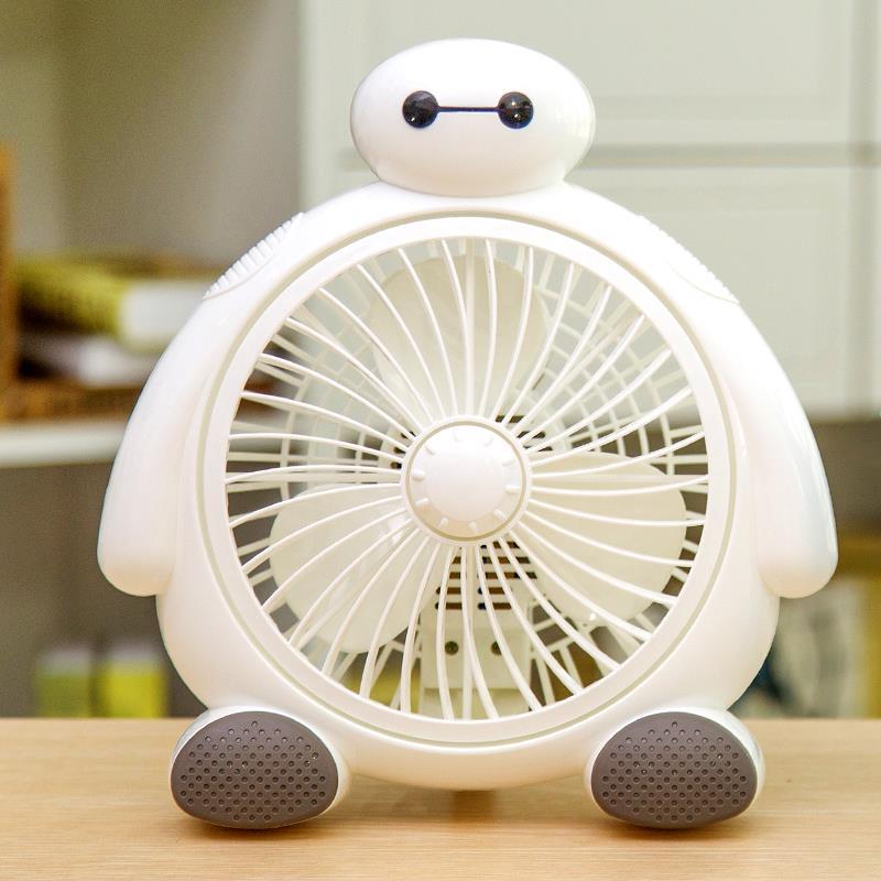 迷你出行台扇床头夏季卡通小电风扇家用台式书桌小型简约小白静音