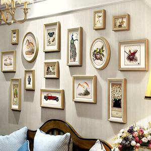 美式客厅组合餐厅挂墙卧室照片墙