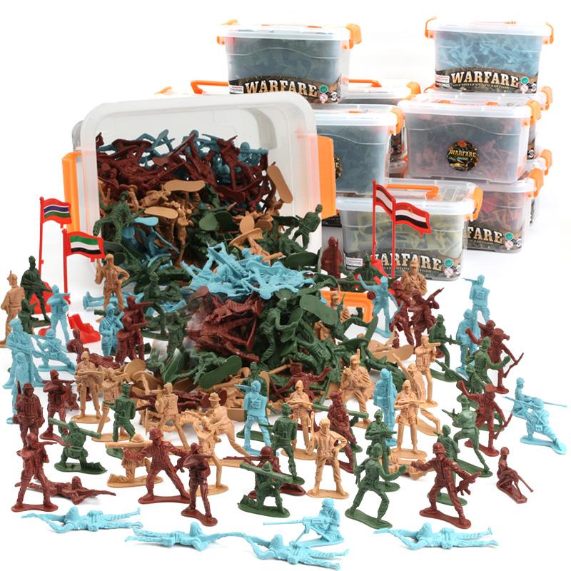 薄利多销二战小兵人士兵军人模型塑料小人玩具 军事战争场景小人