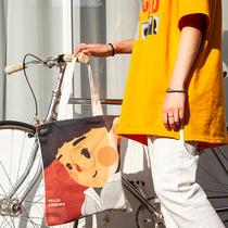 帆布包女单肩斜跨日系学生帆布袋布袋大容量韩版原宿ins手提包