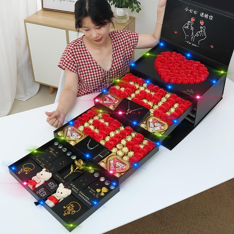 德芙巧克力礼盒装糖果送女友女生创意零食生日表白情人圣诞节礼物