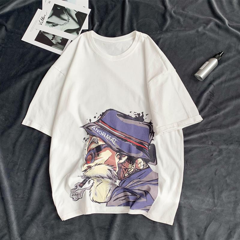 T609-P30短袖t恤男网红潮牌宽松个性时尚百搭印花上衣券后58.00元