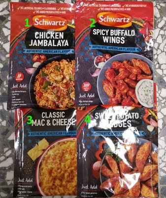 Schwartz Authentic American Flavour Buffalo Wing Mix美国风味