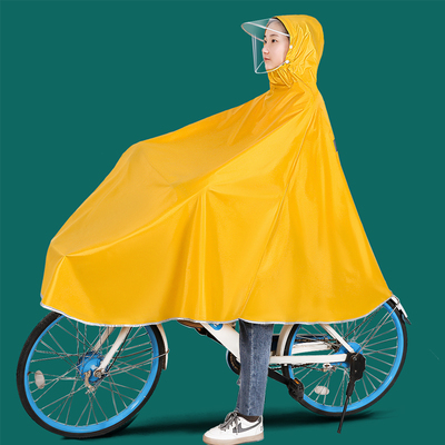 Raincoats, bicycles, ponchos, students, men and women, electric bicycles for driving, thickening, long body, rainstorm protection