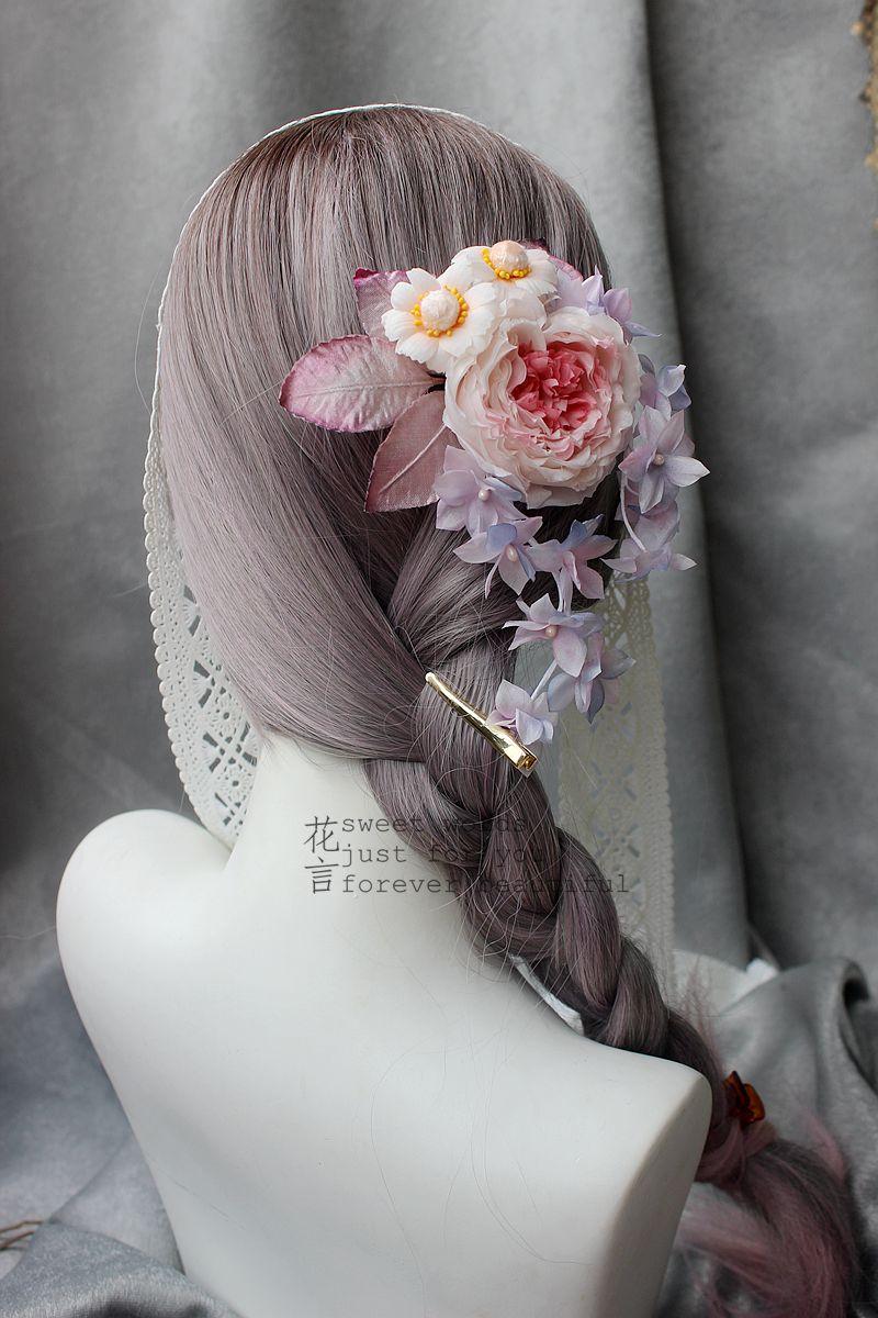 花言真丝造花 烫花 绢花 手工lolita和风古风汉服头饰发饰