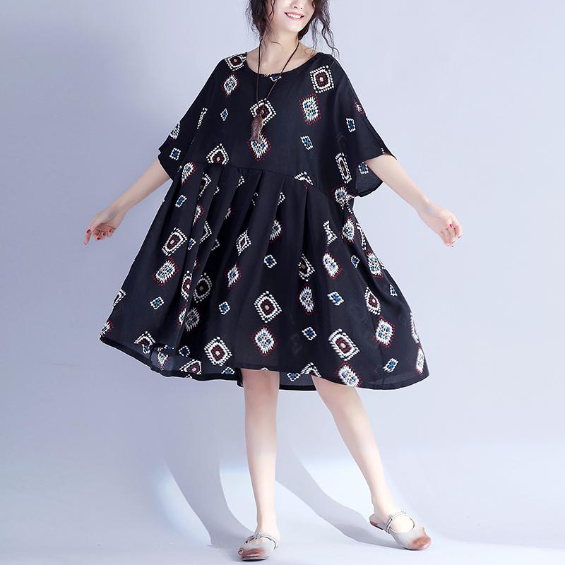 2017夏装肥胖女装特加肥加大码韩版胖mm200斤宽松藏肉雪纺连衣裙